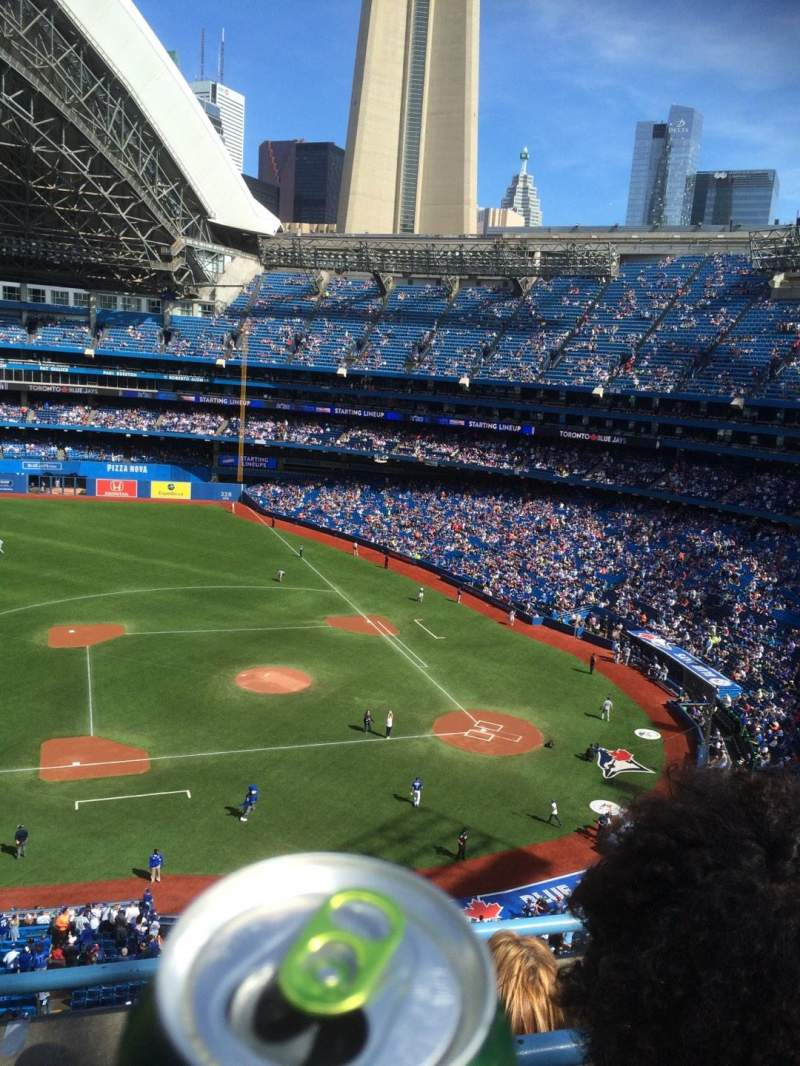 Seating view for Rogers Centre Section 530 Row 3 Seat 2