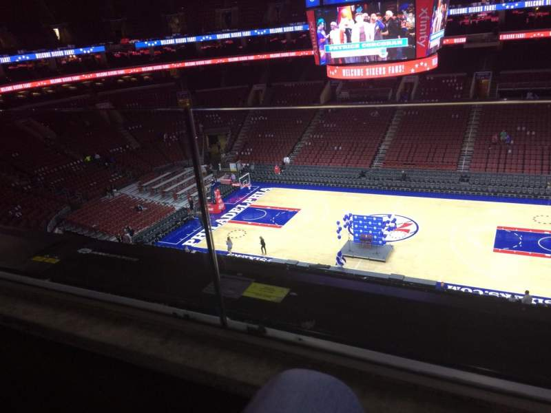 Seating view for Wells Fargo Center Section 202 Row 1 Seat 10
