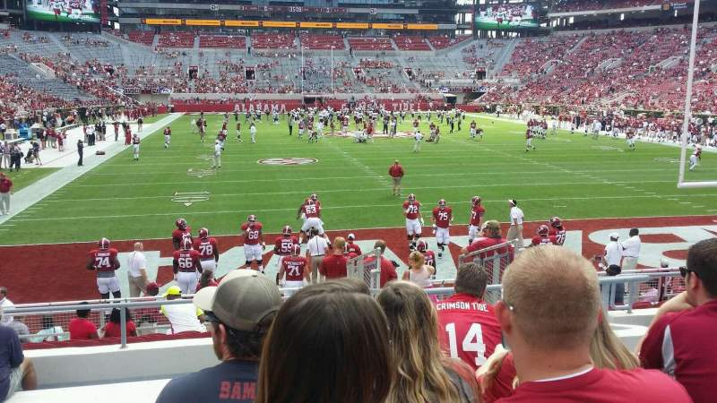 Seating view for Bryant-Denny Stadium Section N-6 Row 20 Seat 3 & 4