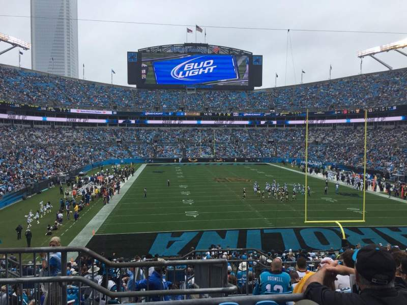 Seating view for Bank of America Stadium Section 202 Row 8 Seat 23