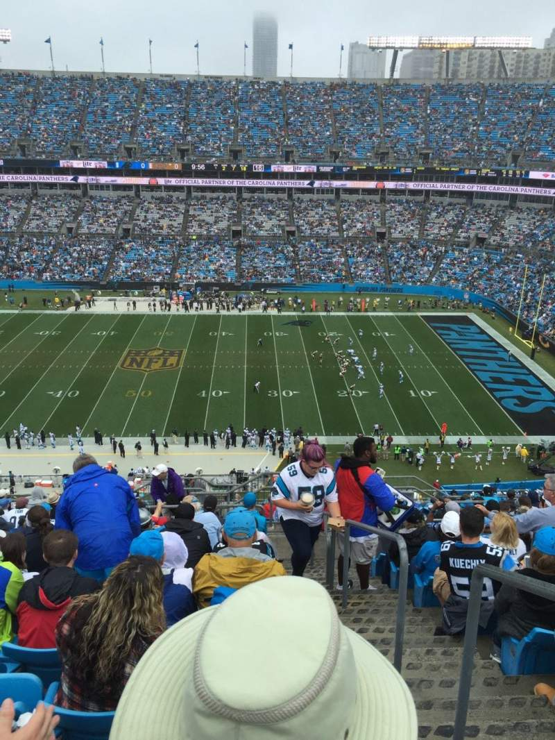 Seating view for Bank of America Stadium Section 541 Row 14 Seat 1