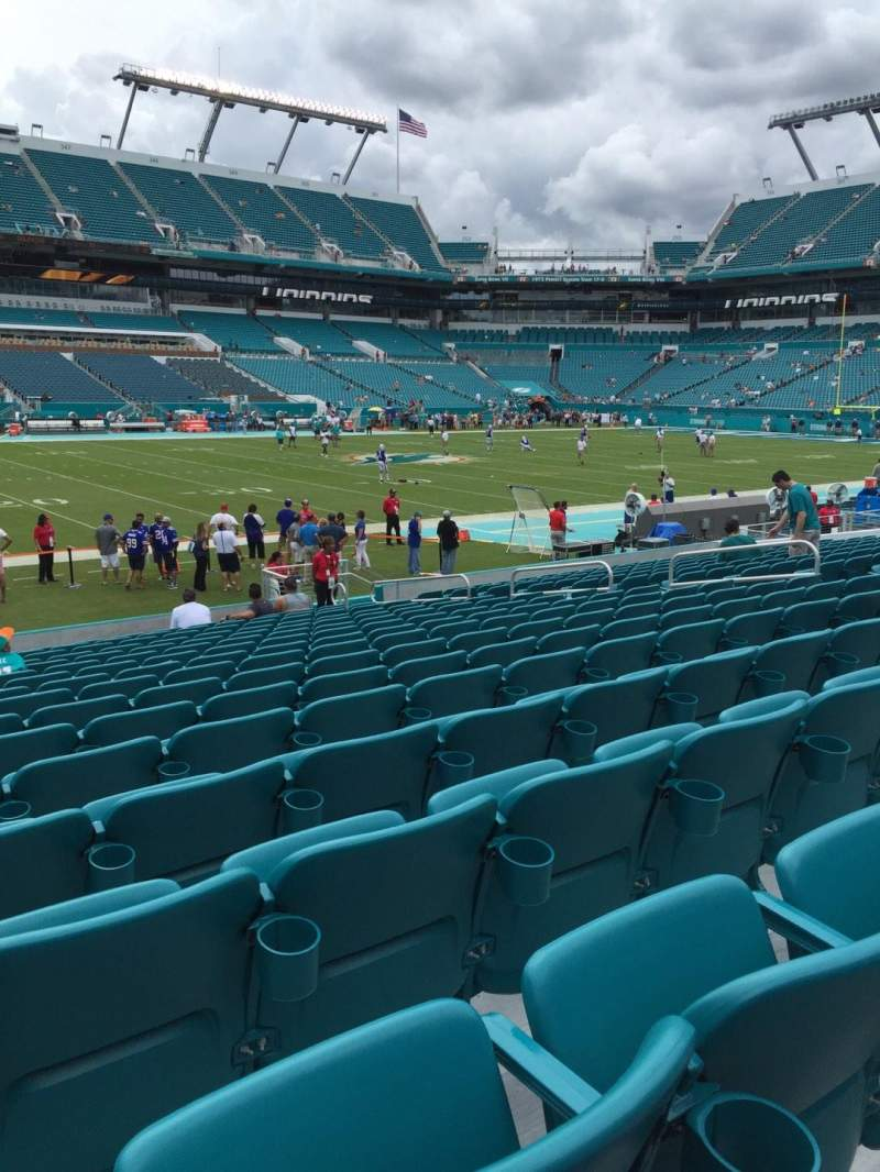 Seating view for Hard Rock Stadium Section 121 Row 16 Seat 15