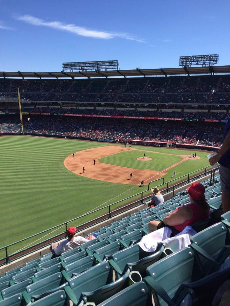 Seating view for Angel Stadium Section 107 Row H Seat 8