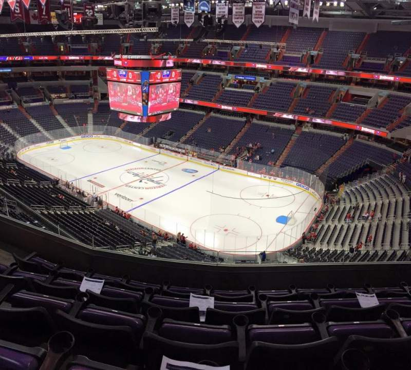 Seating view for Verizon Center Section 421 Row E Seat 7