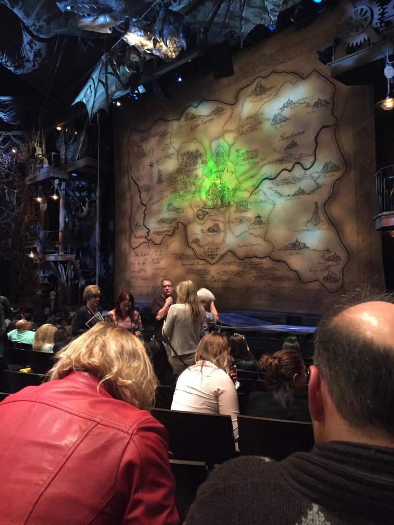 Seating view for Gershwin Theatre Section Orchestra R Row G Seat 18