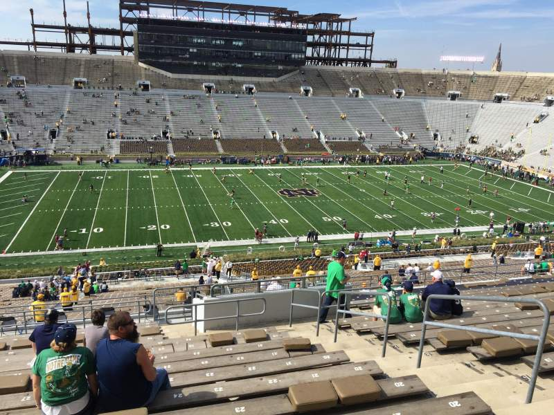 Seating view for Notre Dame Stadium Section 111 Row 20 Seat 25