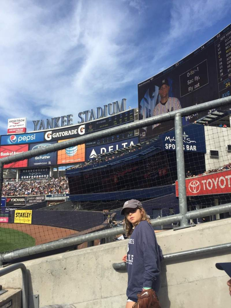 Seating view for Yankee Stadium Section 103 Row 10 Seat 1