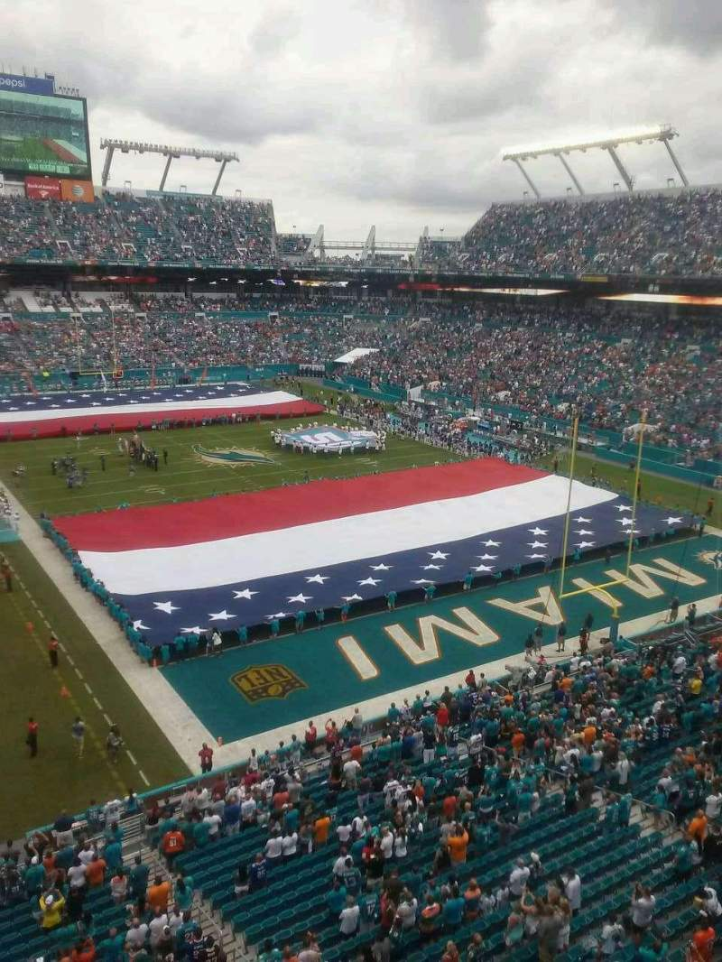 Seating view for Hard Rock Stadium Section 335 Row 1 Seat 16