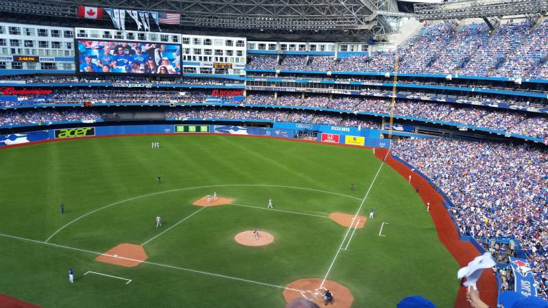Seating view for Rogers Centre Section 526R Row 3 Seat 1