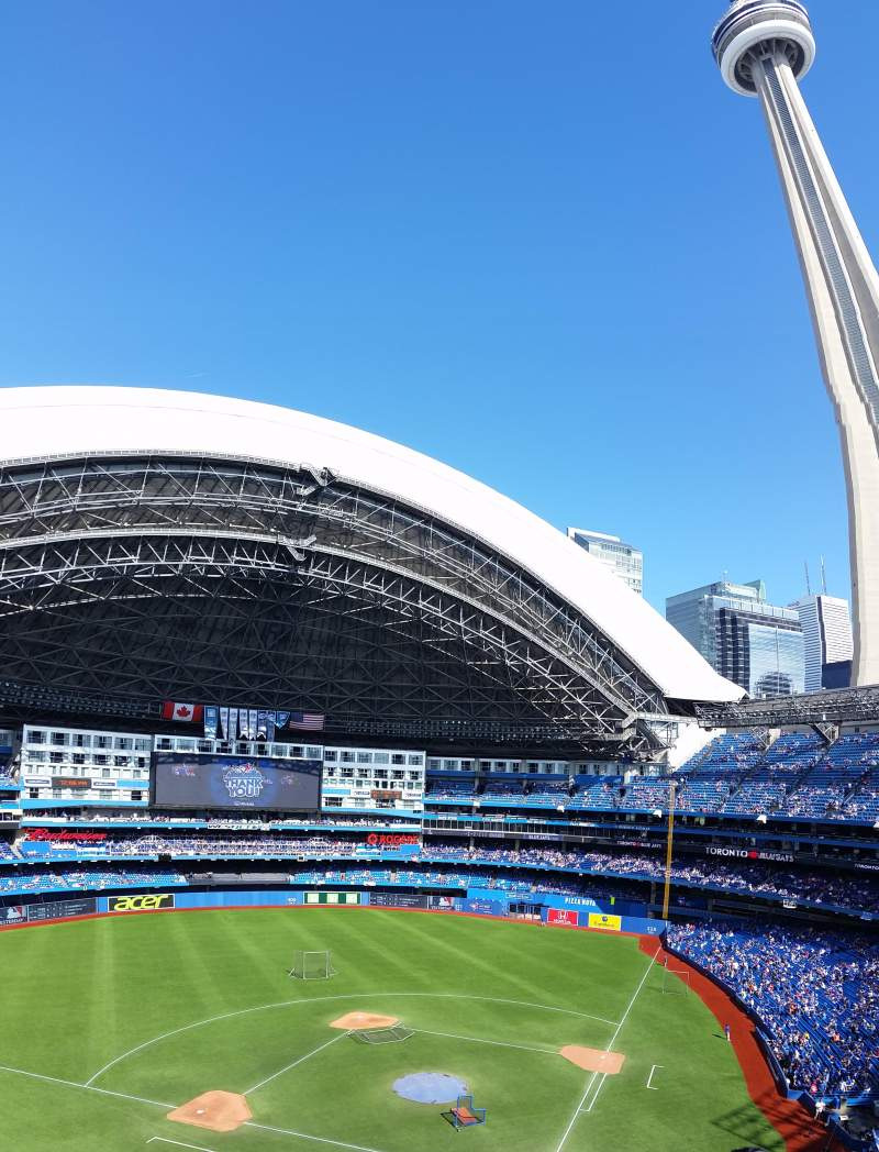 Seating view for Rogers Centre Section 526 Row 3 Seat 1