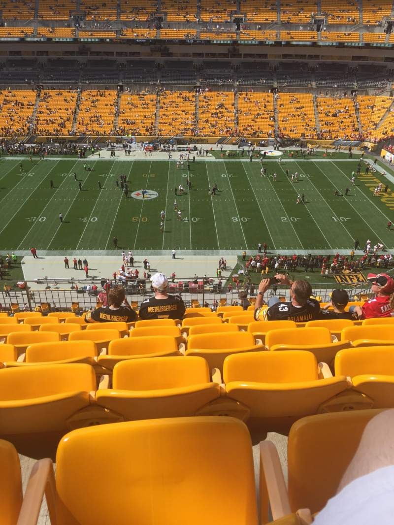 Seating view for Heinz Field Section 511 Row N Seat 11