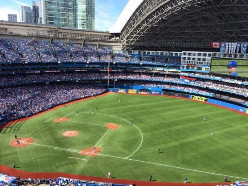 Seating view for Rogers Centre Section 516L Row 20 Seat 108