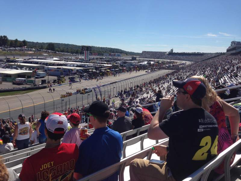 Seating view for New Hampshire Motor Speedway Section Laconia LC Section Row 35 Seat 12