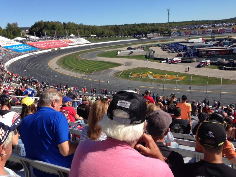 Seating view for New Hampshire Motor Speedway Section Laconia LC Row 35 Seat 12