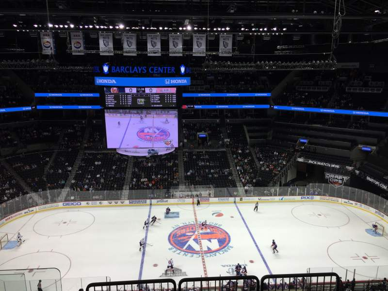 Seating view for Barclays Center Section 207 Row 7 Seat 18