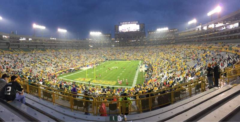 Seating view for Lambeau Field Section 304 Row 6 Seat 12