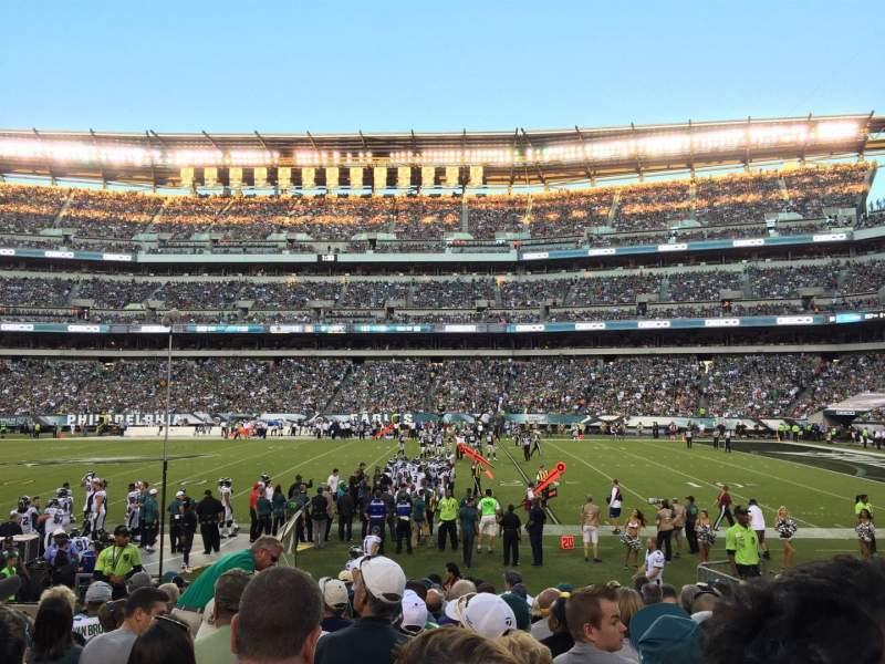 Seating view for Lincoln Financial Field Section 103 Row 12 Seat 12