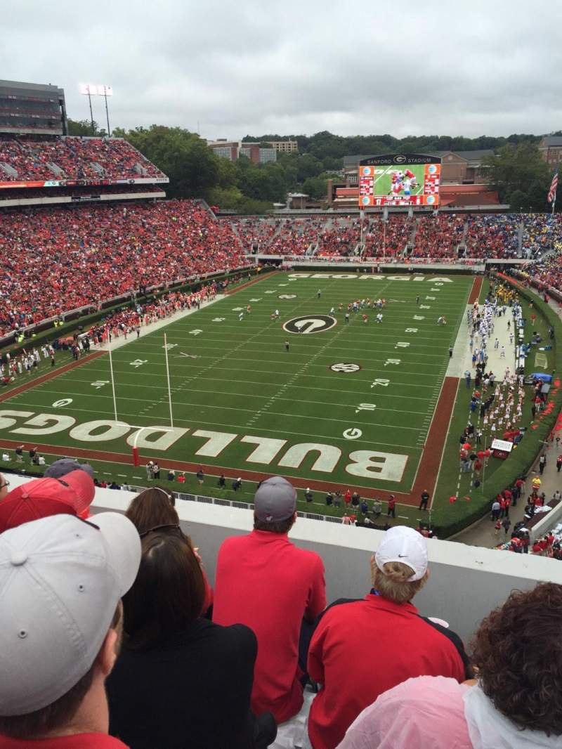 Seating view for Sanford Stadium Section 317 Row 6 Seat 11