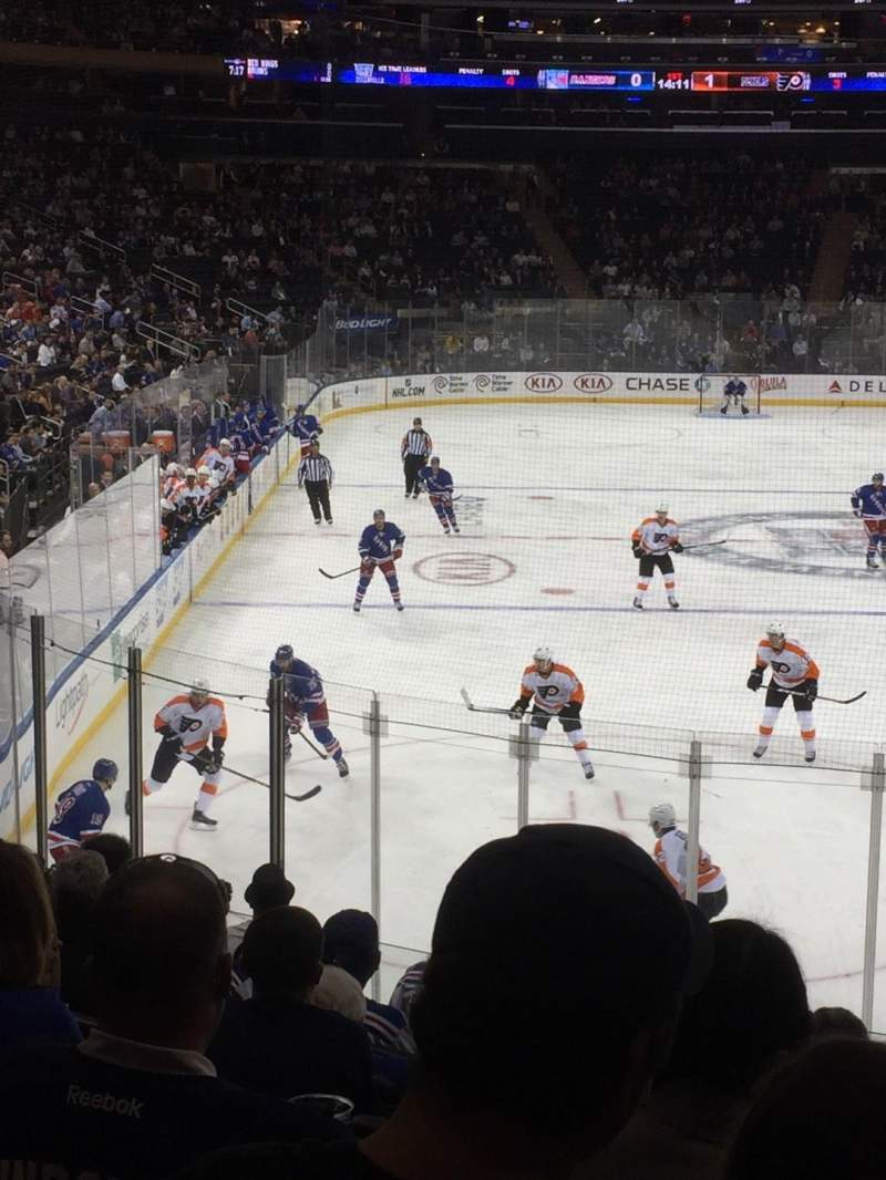 Seating view for Madison Square Garden Section 111 Row 15  Seat 19
