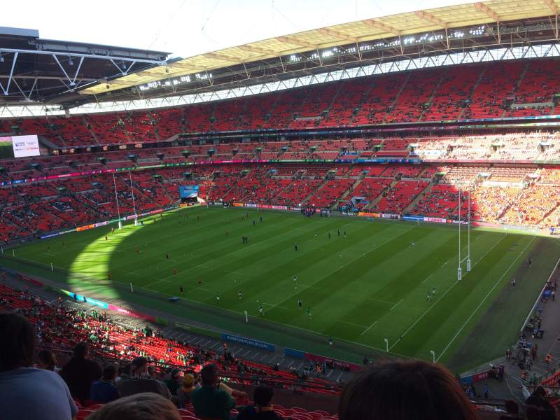 Seating view for Wembley Stadium Section 521 Row 1 Seat 235