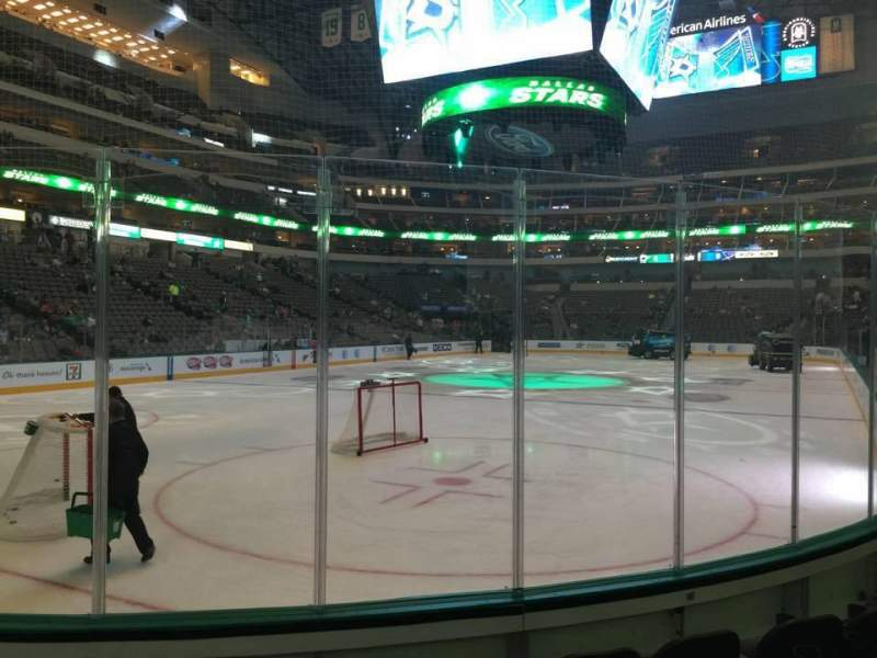 Seating view for American Airlines Center Section 123 Row E Seat 3