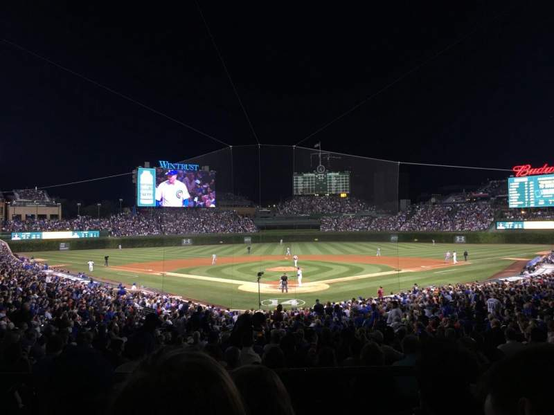 Wrigley Field, section: 222, row: 3, seat: 108