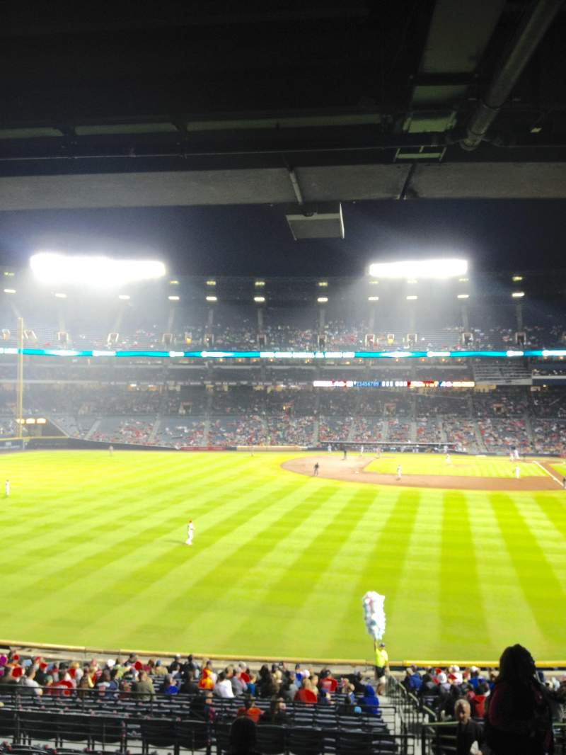 Seating view for Turner Field Section 236L Row 11 Seat 103