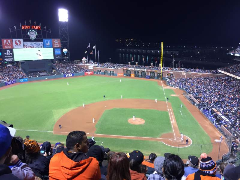 Seating view for AT&T Park Section 321 Row 7 Seat 5