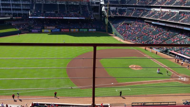 Seating view for Globe Life Park in Arlington Section 317 Row 2 Seat 11