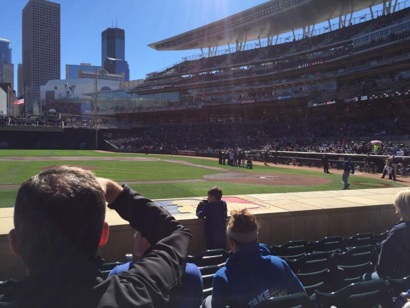 Seating view for Target Field Section 12 Row 9 Seat 13