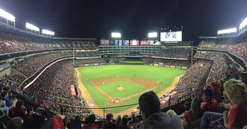 Seating view for Globe Life Park in Arlington Section 327 Row 6 Seat 14