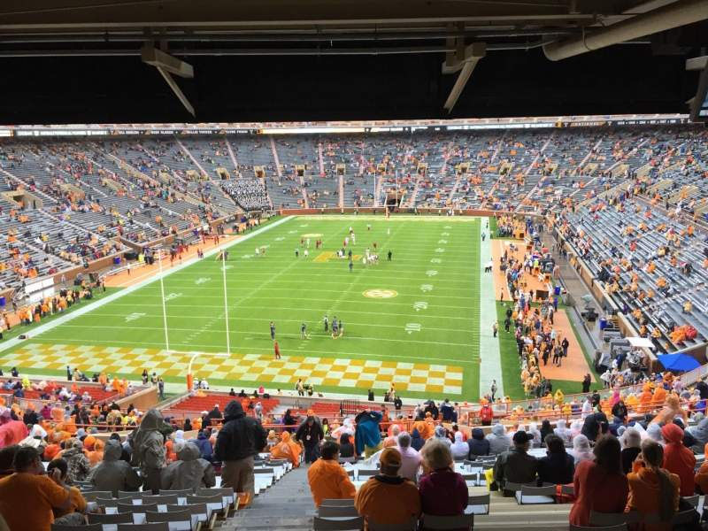 Seating view for Neyland Stadium Section Y6 Row 53 Seat 32