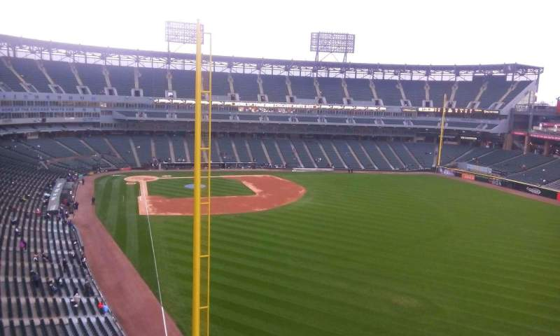 Seating view for Guaranteed Rate Field Section 506 Row 1 Seat 4