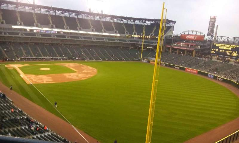 Seating view for Guaranteed Rate Field Section 508 Row 1 Seat 1