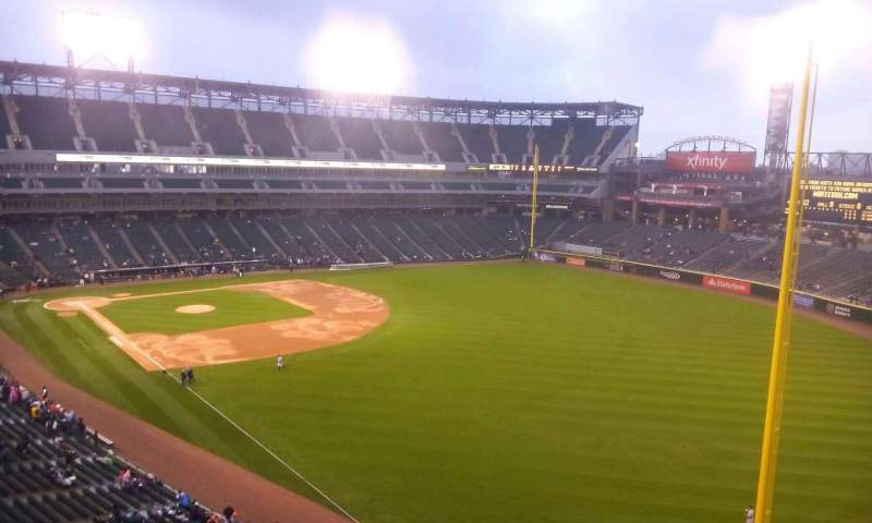 Seating view for Guaranteed Rate Field Section 509 Row 1 Seat 8