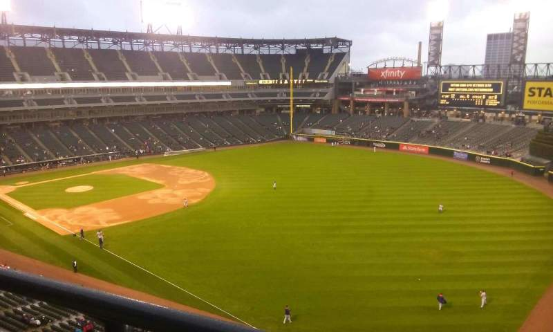 Seating view for U.S. Cellular Field Section 510 Row 2 Seat 1