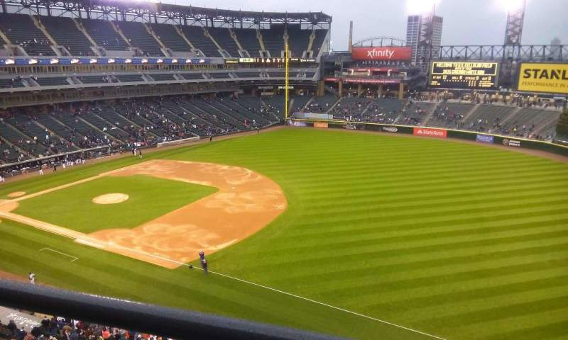 Seating view for Guaranteed Rate Field Section 516 Row 2 Seat 14