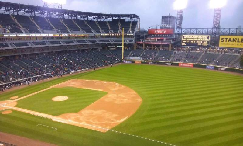 Seating view for Guaranteed Rate Field Section 518 Row 2 Seat 1