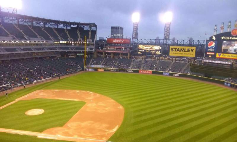 Seating view for Guaranteed Rate Field Section 520 Row 2 Seat 15