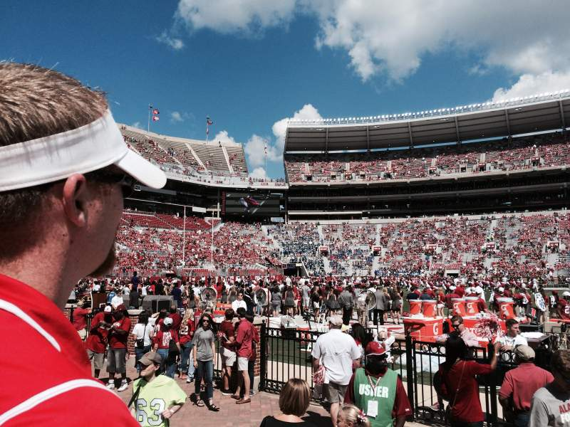 Seating view for Bryant-Denny Stadium Section G Row 2 Seat 5