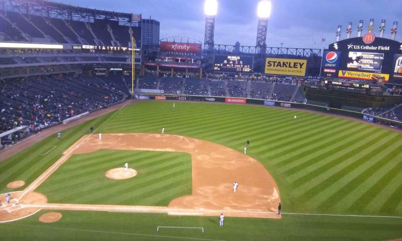 Seating view for Guaranteed Rate Field Section 524 Row 2 Seat 1