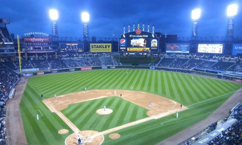 Seating view for Guaranteed Rate Field Section 529 Row 2 Seat 8