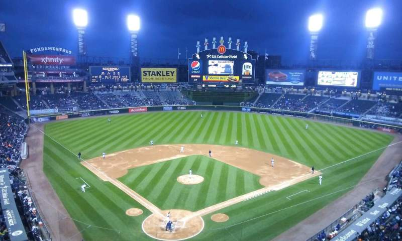 Seating view for Guaranteed Rate Field Section 530 Row 2 Seat 1
