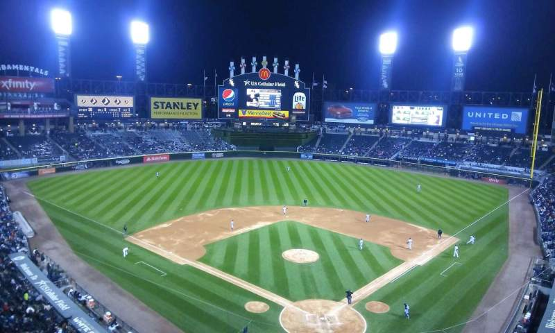 Seating view for Guaranteed Rate Field Section 533 Row 2 Seat 8