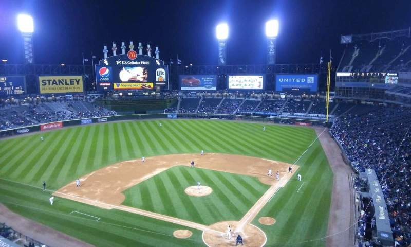 Seating view for Guaranteed Rate Field Section 534 Row 2 Seat 1