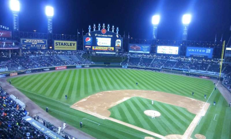 Seating view for Guaranteed Rate Field Section 535 Row 1 Seat 8