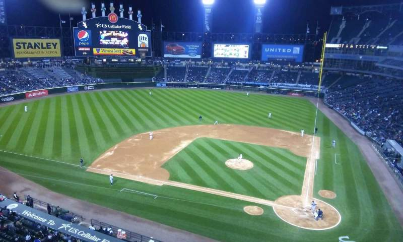 Seating view for Guaranteed Rate Field Section 536 Row 1 Seat 1