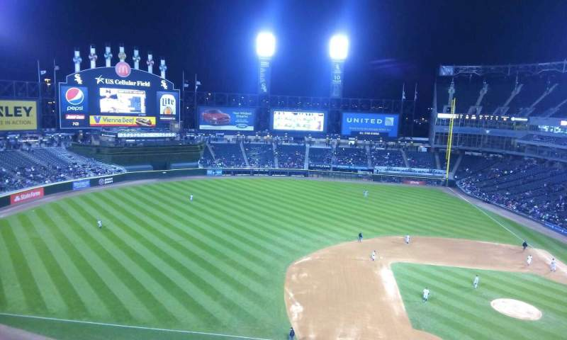 Seating view for Guaranteed Rate Field Section 540 Row 1 Seat 2