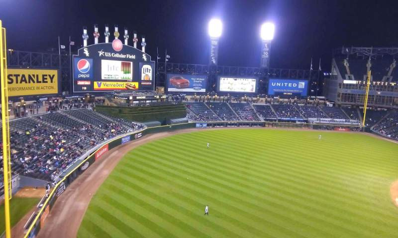 Seating view for Guaranteed Rate Field Section 548 Row 2 Seat 14