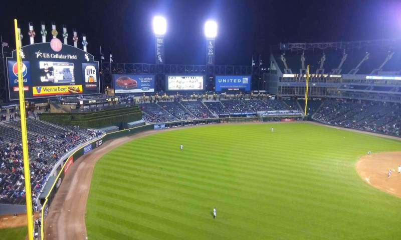 Seating view for Guaranteed Rate Field Section 550 Row 2 Seat 1